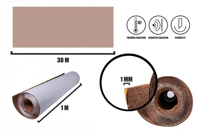 Selbstklebender Kork Rollen 1mm(30m)